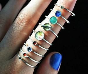 Fake Wedding Bands For Ring Bearer 92 Popular Solar System Planets Ring