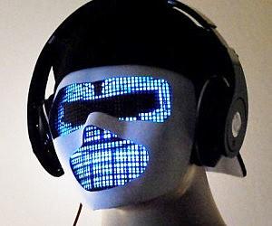 Sound Reactive LED DJ Mask