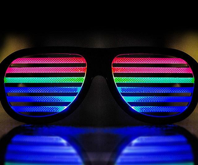 Light Up Sound Reactive Glasses