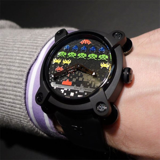 db992d3f22b2 Space Invaders Wrist Watch