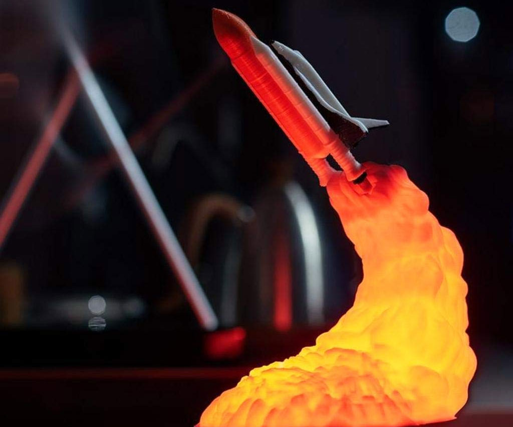 Space Shuttle Blastoff Lamp