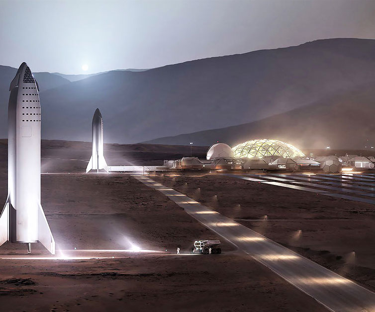 SpaceX Martian Base