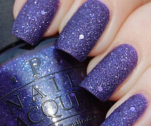 Sparkling Purple Nail Polish