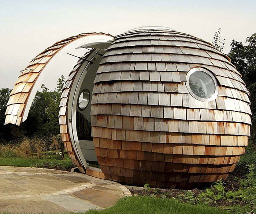 Spherical Backyard Office