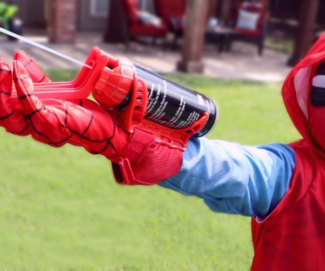 spider man silly string web shooter