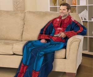 spiderman snuggie blanket