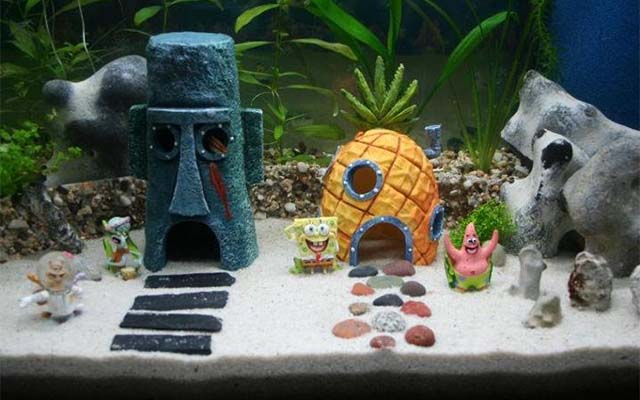 spongebob aquarium ornaments - Christmas Aquarium Decorations