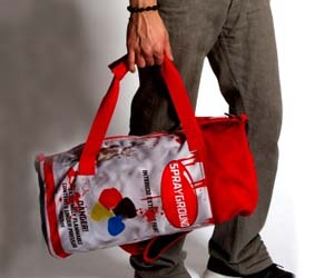 Spray Paint Duffle Bag