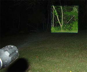 Square Beam Flashlight