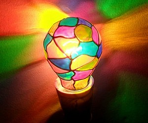 Perfect Stained Glass Lightbulb