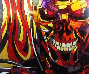 Terminator T-800 Stained Glass