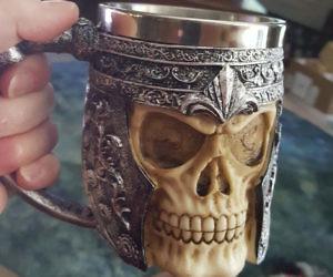 Stainless Steel Skull Coff...
