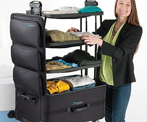 Stand Up Dresser Suitcase