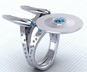 Star Trek Starship Enterprise Ring