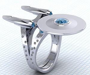 Star Trek Starship Enterprise Ring