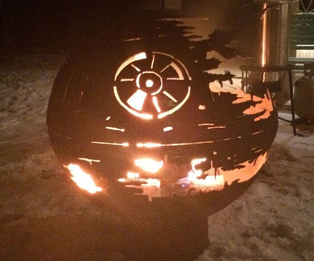 Charming Star Wars Death Star Fire Pit Part - 3: Star Wars Death Star Fire Pit