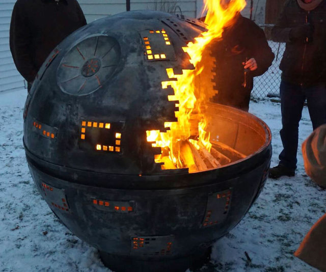 Beautiful Star Wars Death Star Fire Pit Part - 11: Death Star Fire Pit