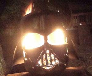 Darth Vader Helmet Fire Pit
