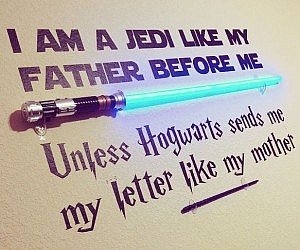 Awesome Star Wars u Harry Potter Wall Decal