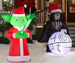 Inflatable Christmas Decorations.Star Wars Christmas Lawn Decorations