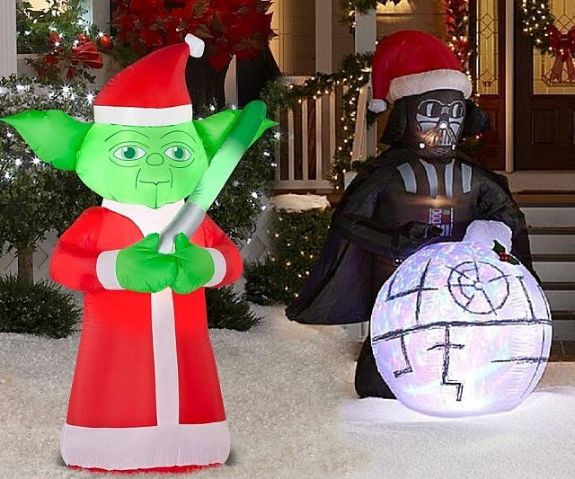star wars christmas lawn decorations - Star Wars Inflatable Christmas Decorations