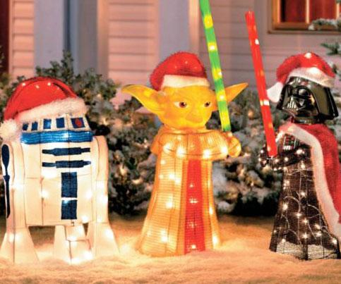 Star Wars Light Up Lawn Ornaments