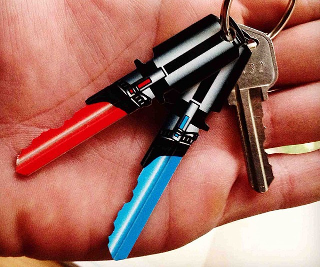 Star Wars Lightsaber House Keys