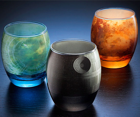 Star Wars Planetary Glasses