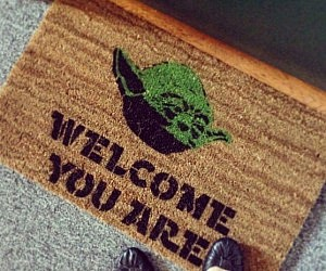 Star Wars Yoda Welcome Doormat