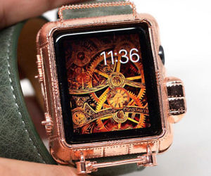 steampunk copper apple watch cover