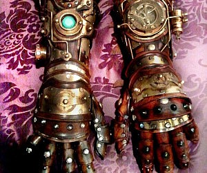 Steampunk Robot Arm Gauntlets