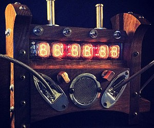 Steampunk Nixie Tube Clock
