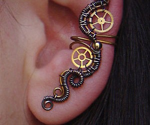 Steampunk Wrap Earring