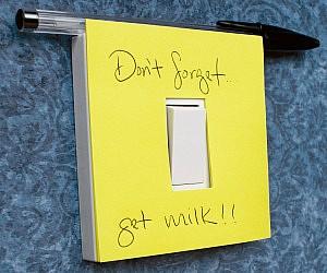 Light Switch Sticky Notes