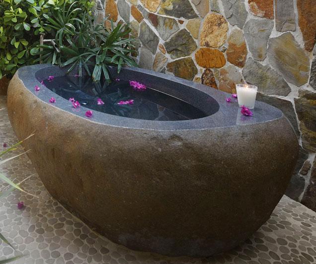 Elegant Natural Stone Bathtub