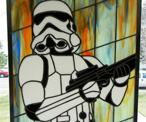 Stormtrooper Stained Glass