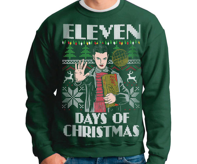 Green Day Christmas Sweater.Eleven Days Of Christmas Sweater