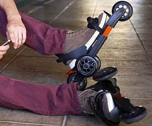 Strap-on Roller Skates