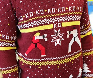 Ugly Christmas Sweaters Patterns.Street Fighter Ugly Christmas Sweater