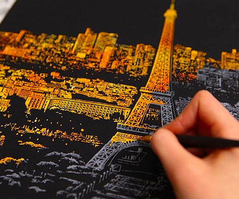 Stress Relieving Scratch-Off City Posters