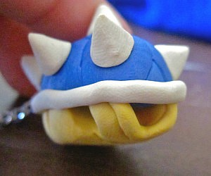 Super Mario Blue Shell Keychain