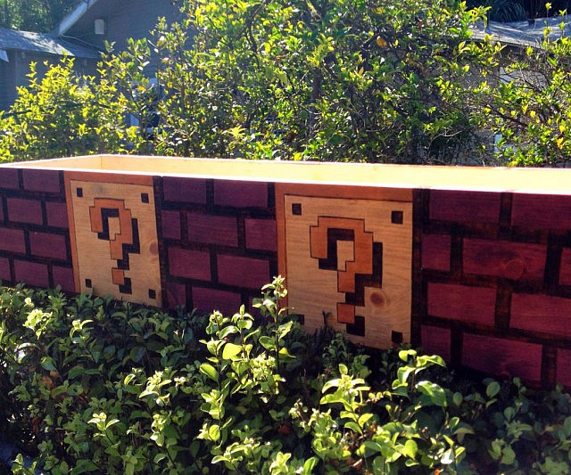 Super Mario Bros Brick Planter Box