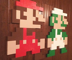 Super Mario Bros 8-Bit Wall Art
