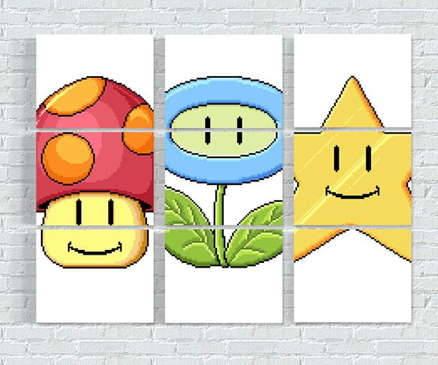 Super Mario Match Game Wall Prints