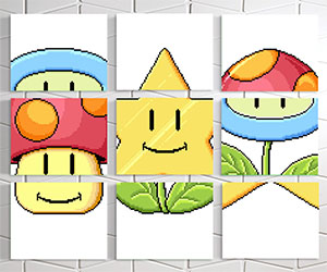 Super Mario Match Game Wall Prints