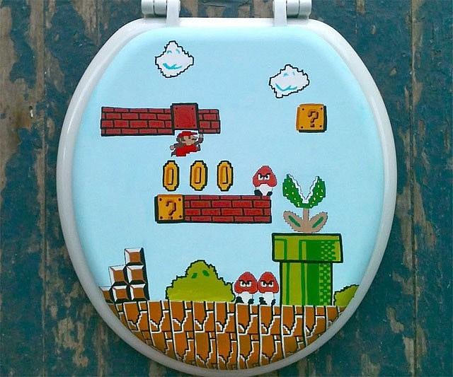 Super Mario Bros Toilet Seat
