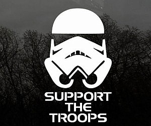 Support The Storm Troops Decal