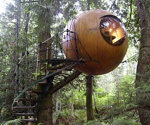 Suspended Spherical Treehouse