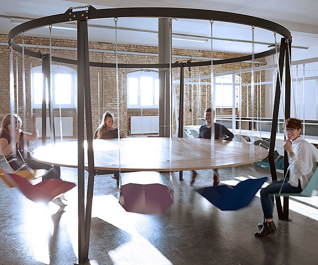 swinging chairs round table - Swing Chairs