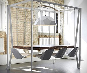 Marvelous Swinging Chairs Dining Table